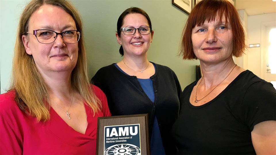 Professor Margareta Lützhöft, head of the department of maritime studies Johanne Marie Trovåg and leader of Marsafe Research program Helle Oltedal