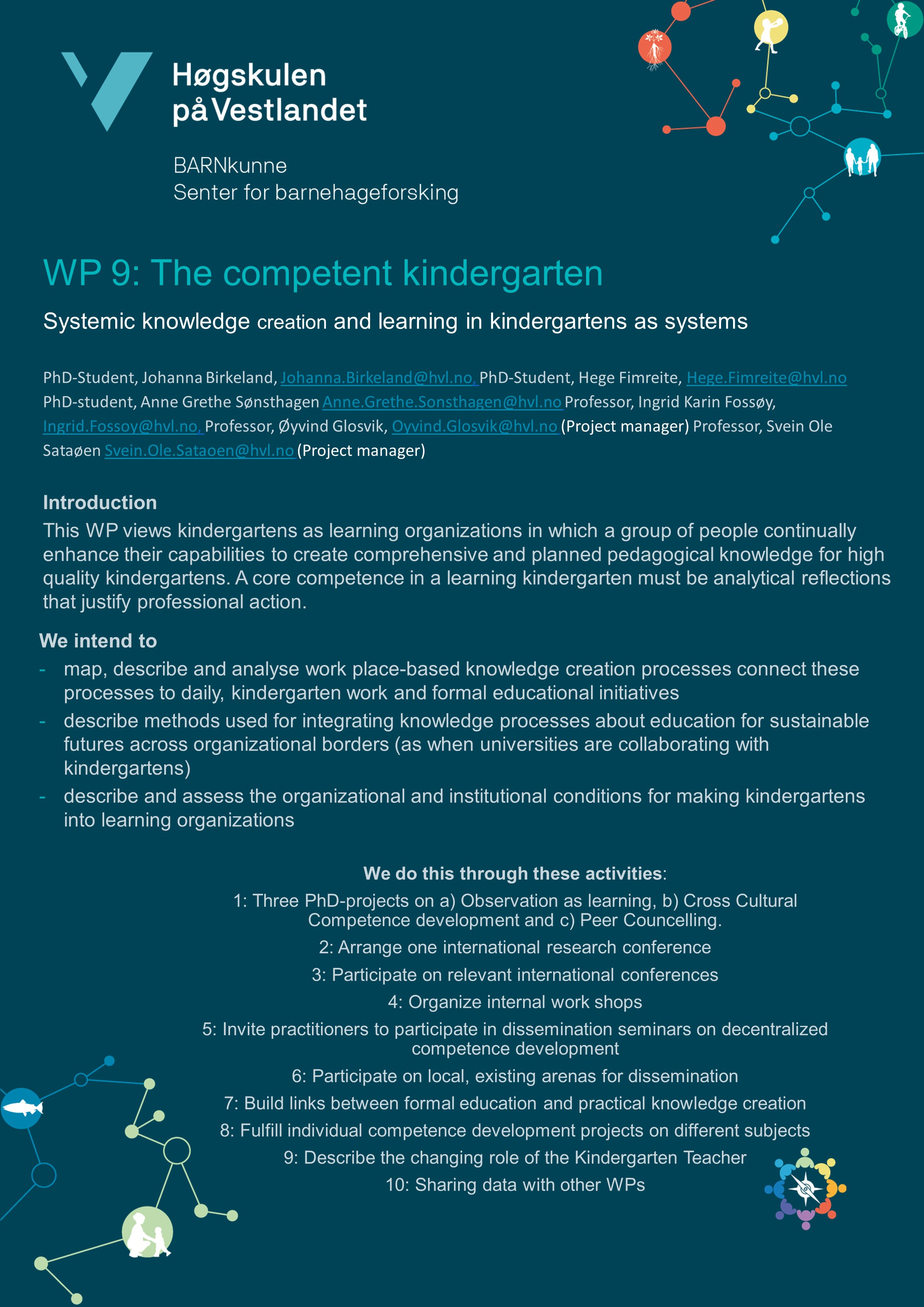 The competent kindergarten – systemic knowledge creation and ...